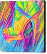 Funky Stilettos Impression Canvas Print by Kenal Louis
