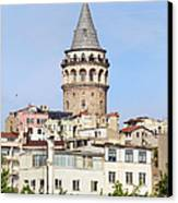Galata Tower In Istanbul Canvas Print
