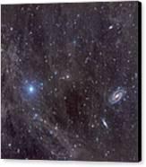 Galaxies M81 And M82 As Seen Canvas Print by John Davis
