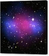 Galaxy Cluster Collision, X-ray Image Canvas Print by Nasaesacxcstscim. Bradac And S. Allen