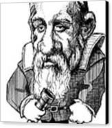 Galileo Galilei, Caricature Canvas Print by Gary Brown