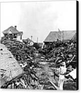 Galveston Flood Debris - September - 1900 Canvas Print by International  Images