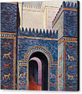 Gate Of Ishtar, Babylonia Canvas Print by Photo Researchers