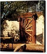 Gate To Cowboy Heaven In Old Tuscon Az Canvas Print