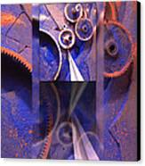 Gear Composition Canvas Print by Ron Schwager