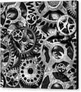Gears Of Time Black And White Canvas Print by David Paul Murray