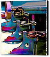 Gears Canvas Print by Suni Roveto