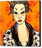 Geisha No. 1 Canvas Print