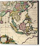 General Map Extending From India And Ceylon To Northwestern Australia By Way Of Southern Japan Canvas Print