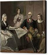 George And Martha Washington Sitting Canvas Print by Everett