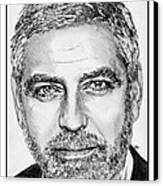 George Clooney In 2009 Canvas Print