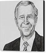 George W. Bush Canvas Print by Daniel Young