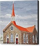 Georgetown Presbyterian Church Canvas Print by Reb Frost