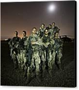 German Army Crew Poses Canvas Print