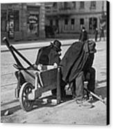 German Street Sweepers Taking Lunchtime Canvas Print