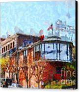 Ghirardelli Chocolate Factory San Francisco California . Painterly . 7d14093 Canvas Print by Wingsdomain Art and Photography