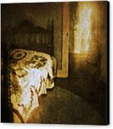Ghostly Figure In Hallway Canvas Print by Jill Battaglia