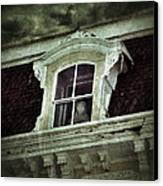 Ghostly Girl In Upstairs Window Canvas Print by Jill Battaglia