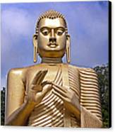 Giant Gold Bhudda Canvas Print by Jane Rix