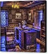 Gillette Castle Office Hdr Canvas Print by Susan Candelario