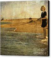 Girl On A Shore Canvas Print by Paul Grand