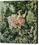 Girl Swinging Tapestry Canvas Print by Unique Consignment