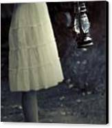 Girl With An Oil Lamp Canvas Print by Joana Kruse