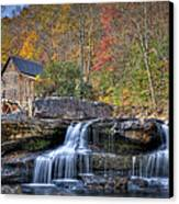 Glade Creek Grist Mill At Babcock Canvas Print by Williams-Cairns Photography LLC