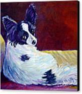Glamor - Papillon Dog Canvas Print
