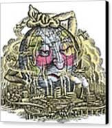 Global Warming, Conceptual Image Canvas Print