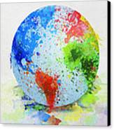 Globe Painting Canvas Print