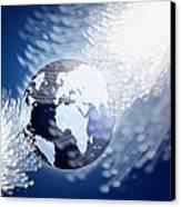 Globe With Fiber Optics Canvas Print