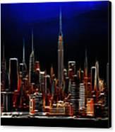 Glowing New York Canvas Print by Steve K