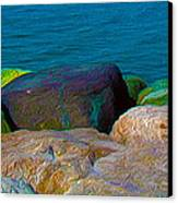 Goa Sea Front Rocks Canvas Print