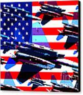 God Bless America Land Of The Free Canvas Print