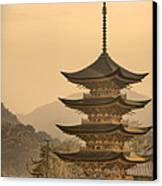Goju-no-to Pagoda Canvas Print by Karen Walzer