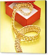 Gold Necklace Canvas Print