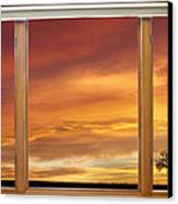 Golden Country Sunrise Window View Canvas Print by James BO  Insogna