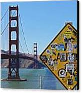 Golden Gate Stickers Canvas Print
