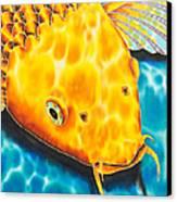 Golden Koi Canvas Print by Daniel Jean-Baptiste