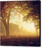 Golden Light Of California Canvas Print by Albert Bierstadt