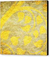 Golden Tree Pattern On Paper Canvas Print