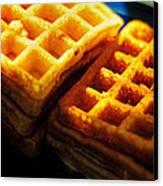 Golden Waffles Canvas Print