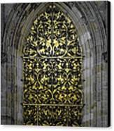 Golden Window - St Vitus Cathedral Prague Canvas Print