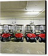 Golf Cart Parking Garage Canvas Print
