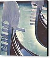 gondolas - Venice Canvas Print by Joana Kruse