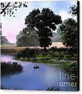 Goose Pond Canvas Print by Robert Foster