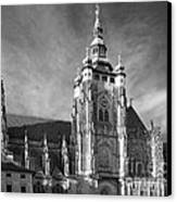 Gothic Saint Vitus Cathedral In Prague Canvas Print