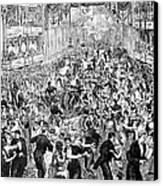 Grand Ball, New York, 1877 Canvas Print by Granger