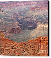 Grand Canyon Crimson Ridge Canvas Print by Michael Kirsh